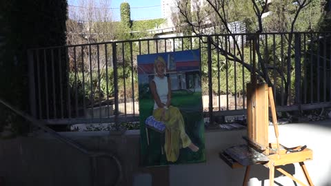 A Master Painting At His Favorite Place In Austin Texas