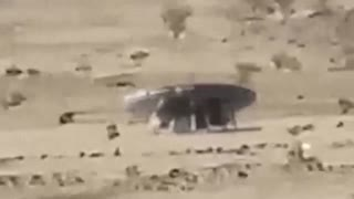 Mysterious object landed in Saudi Arabia - Video