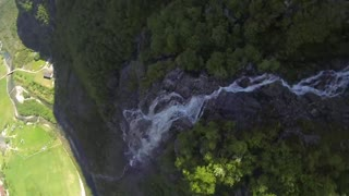 Speedflying from 3,642 foot cliff, over a watefall! - Video