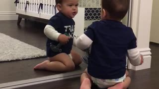 Adorable Little Boy Loves Himself - Video