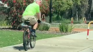 Bird Chases Off Cyclist