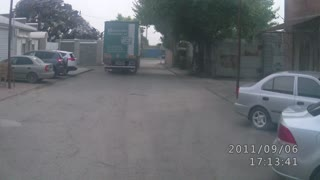 Semi and Cyclist - Video