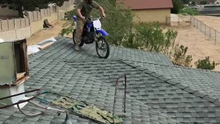 Motorcycle Jump into Pool - Video