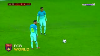 Leo Messi outstanding free-kick goal vs Athletic Bilbao