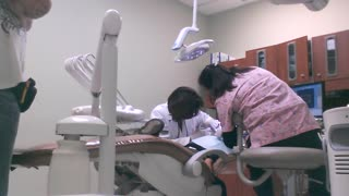 Boy gets his first needle ever at the dentist. - Video