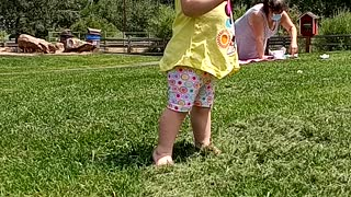 Baby Skyla walking