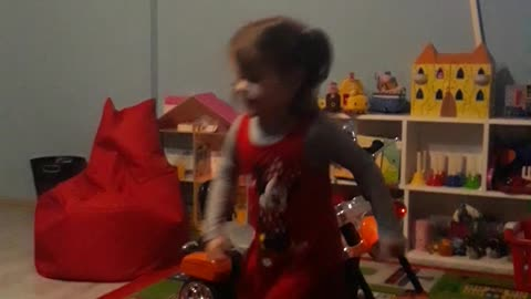 Dance like no one is watching! 3 year old rocking it out!