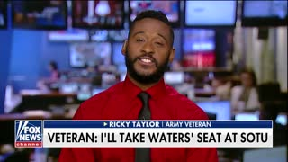 Army Vet Jumps at Chance to Take Maxine Waters' Open Seat at Trump's State of the Union - Video