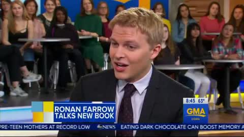 Ronan Farrow: Hillary canceled interview when she found out he was working on Weinstein story