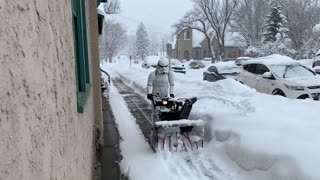Stormtrooper Snow Blowing - Video