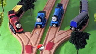 Thomas & Friends Pokemon Go Games on the Wooden Railway