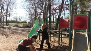Free running monkey bars backflip - Video
