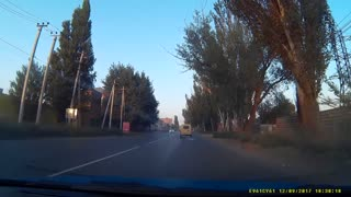 Red Lexus Near Miss - Video