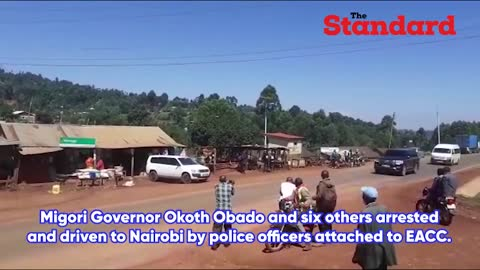 Migori Governor Okoth Obado and six others arrested in graft probe