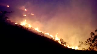 Mesa de los Santos, Incendio - Video