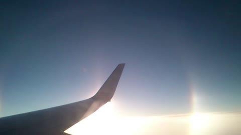"""Side by side with strange """"Halo"""" effect at 30,000 feet"""