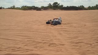 Little Sahara State park SandFill Crashes the Yamaha Big Wheel Waynoka Sand Dunes