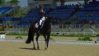 Rider sits atop saddle in powerful montage featuring world's best dressage horse - Video