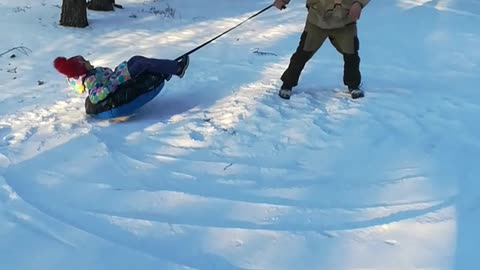 Why is this so funny? The soft landing turned out to be a face in the snow.