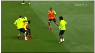 VIDEO: Diego Costa nutmegs N'Golo Kante in training - Video