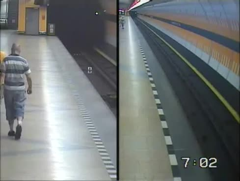 Youths risk lives to rescue man pushed onto subway track