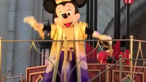 Mighty King Micky Mouse Performs His Show
