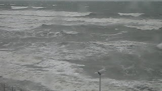 Winter storm on the Baltic sea - Video