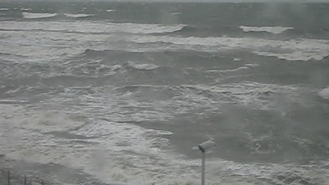 Winter storm on the Baltic sea