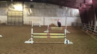 5-Year-Old Jumping Like a Professional Rider! - Video