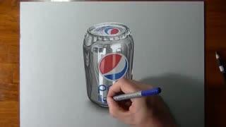 Drawing pepsi can - Video