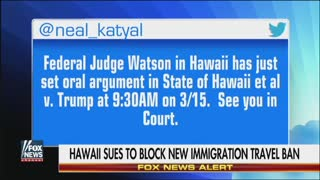 Hawaii Sues To Block President Trump's New Immigration Travel Ban - Video