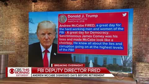 Trump Labels McCabe's Firing A 'Great Day for Democracy'