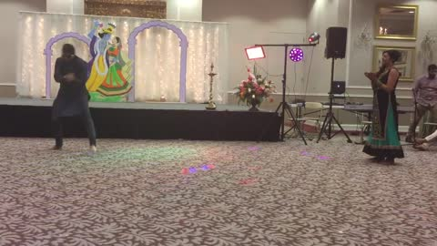 Bride and brother perform epic wedding dance routine