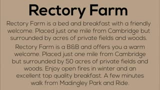 Cambridge bed and breakfast - Video
