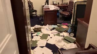 Senate office after the protest.
