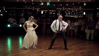 Father And The Bride Perform An Epic Wedding Dance Mashup - Video