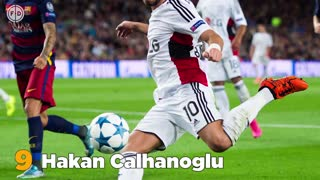 Top 10 Best Free Kick Takers | Ronaldinho, Beckham, Calhanoglu! - Video