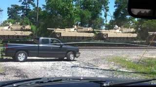 Train Full of Tanks in Houston, TX - Video