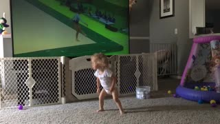 Kendall, Olympian in training! - Video