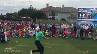 Jordan Spieth's Impressive Trick Shot - Video