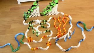 Cartoons in Dominoes _ 30,000 Dominoes - Video