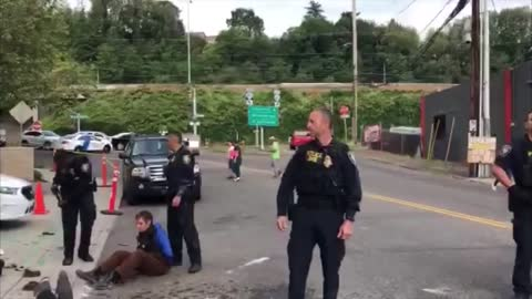 Portland anti-ICE protesters call police officers 'n***er'