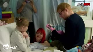 Try not to weep while watching Ed Sheeran serenade a young, sick fan - Video