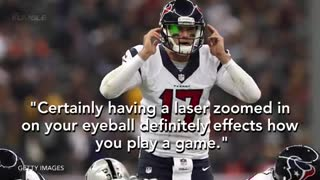 Fan Blinds Texans QB Brock Osweiler with Green Laser - Video