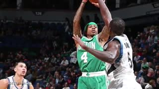 Isaiah Thomas SLAMMED to the ground by Gorgui Dieng - Video