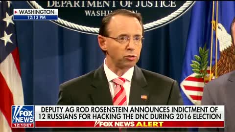 Rosenstein announces the indictments of 12 Russians