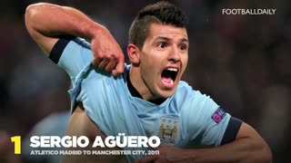 Top 10 Most Expensive Manchester City Signings - Video