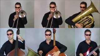 One-man band covers Star Wars Cantina Theme - Video