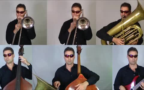 One-man band covers Star Wars Cantina Theme