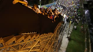 Unstable staircase at Maracana World Cup Stadium